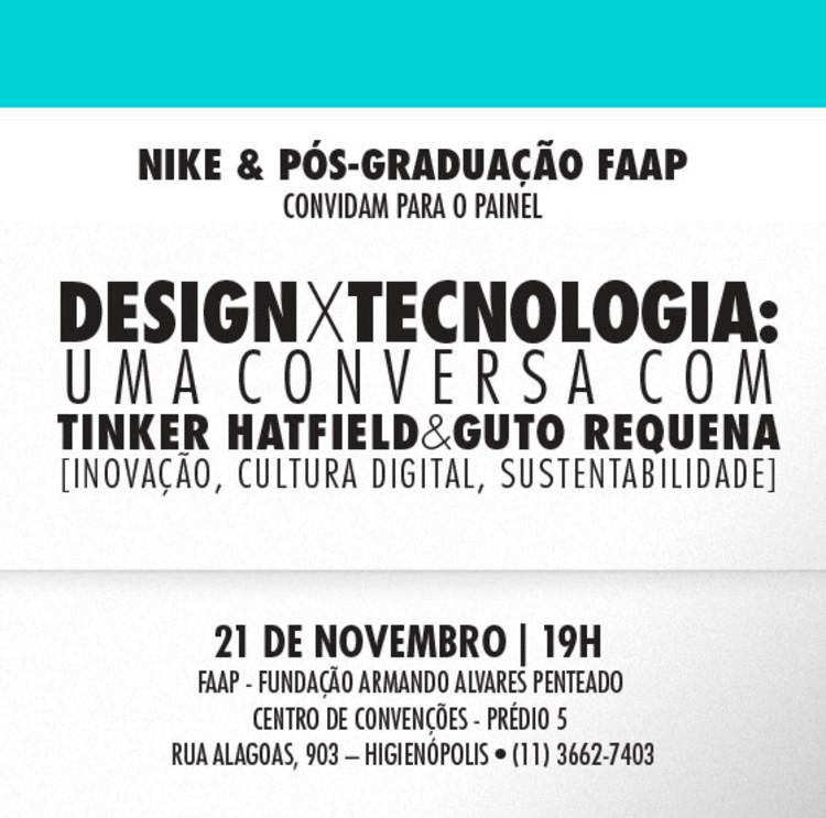 Debate com Tinker Hatfield e Guto Requena na FAAP, São Paulo