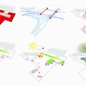 06 Esquemas e ideias que favoreçam a interação social para o novo edifício-praça Ágora.Imagem Cortesia de Equipe Primeiro Lugar