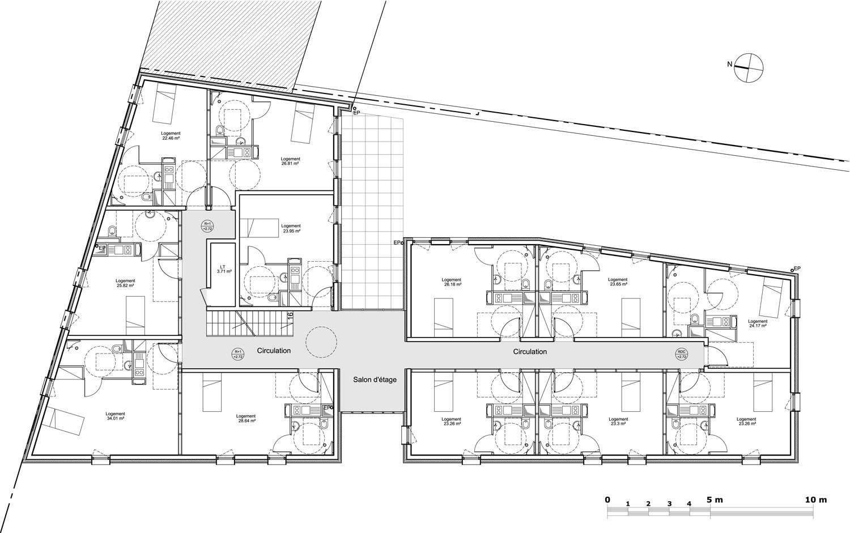 Gallery of 24 Housing Units / Zanon + Bourbon Architects - 11