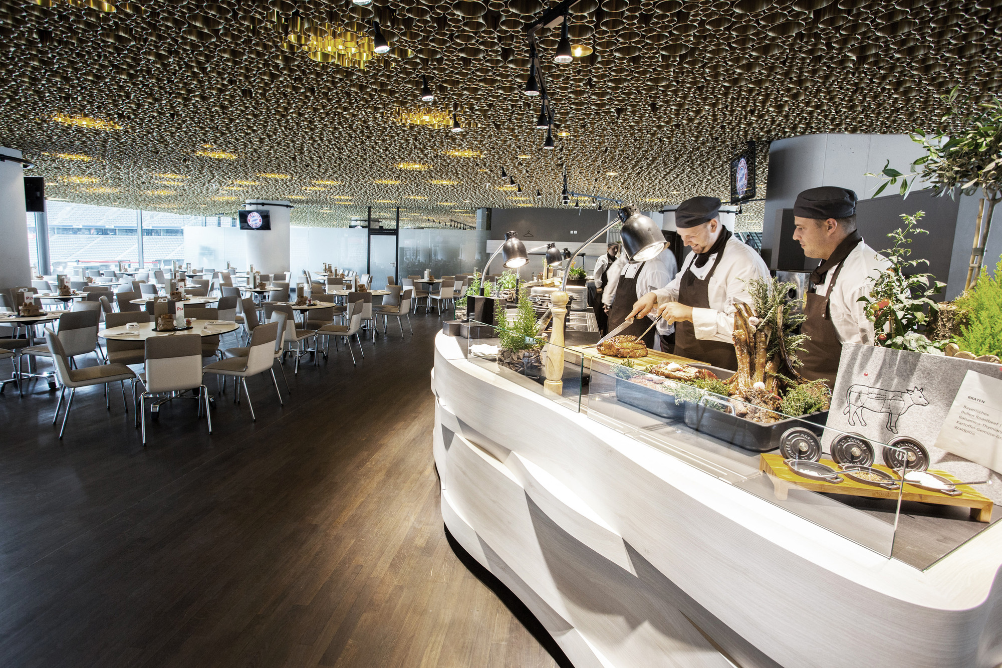 Business Club in the Allianz Arena / CBA Clemens Bachmann Architekten, © Bernd Ducke
