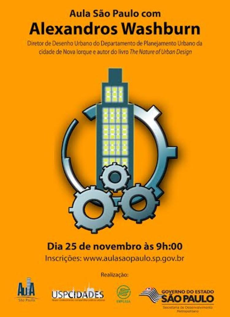 Aula São Paulo com Alexandros Washburn, Diretor do Departamento de Planejamento Urbano de NY