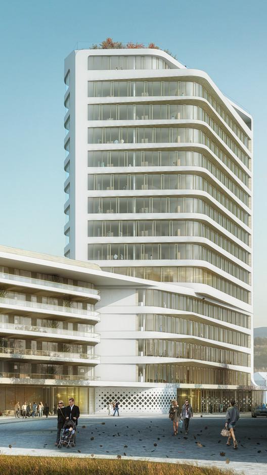 UNStudio Selected to Design Baumkirchen Mitte Tower in Munich, Courtesy of UNStudio
