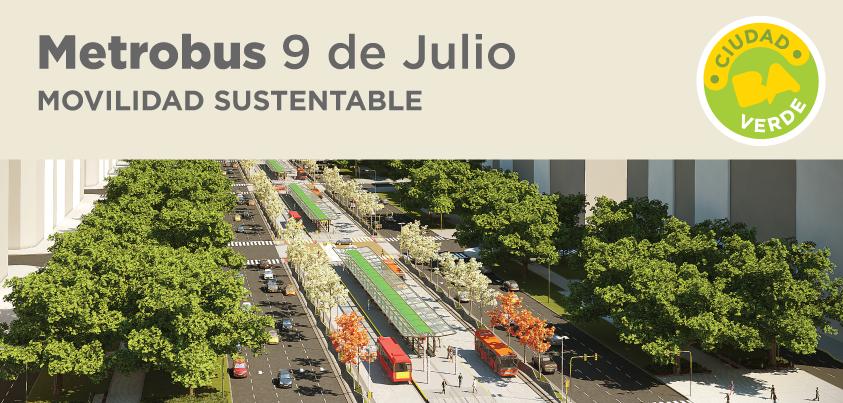 Buenos Aires entre las cuatro ciudades finalistas del Premio al Transporte Sustentable 2013, Metrobus 9 de Julio. Imagen © Gobierno de la Ciudad de Buenos Aires