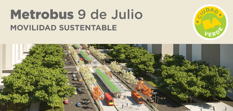 Anunciadas as quatro cidades finalistas do Sustainable Transport Award, Metrobus 9 de Julio. Image © Gobierno de la Ciudad de Buenos Aires