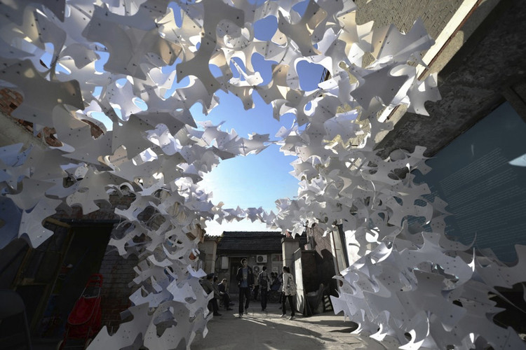 """LCD Exhibits """"As Autumn Leaves"""" at Beijing's 2013 Design Week, Courtesy of Laboratory of Computational Design"""
