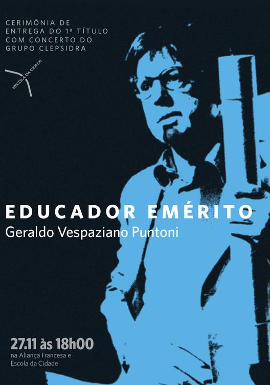 Escola da Cidade concede título de Professor Emérito a Geraldo Vespaziano Puntoni