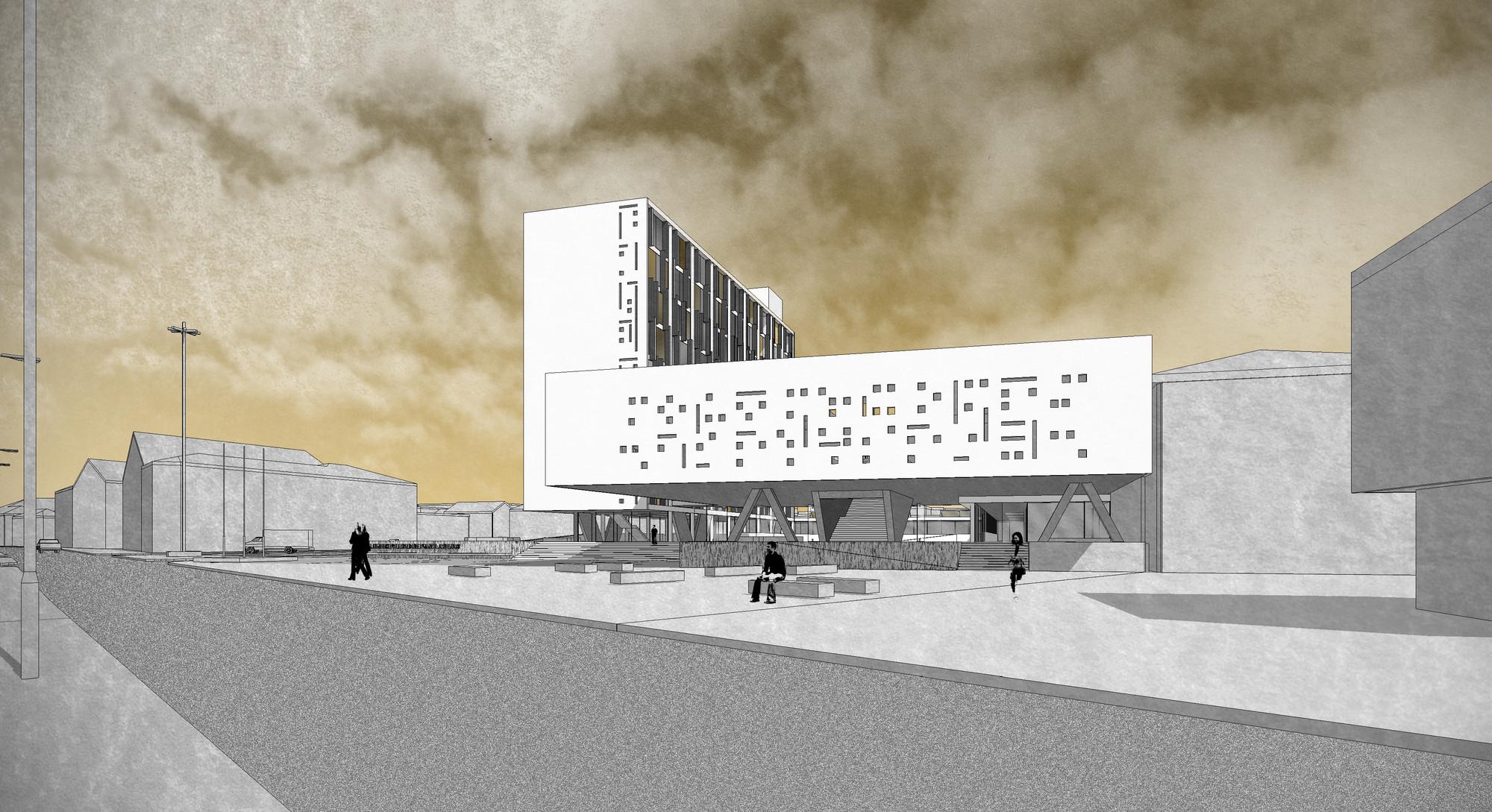 2 Y 3 Lugar Concurso Para Dise O Del Nuevo Edificio  # Muebles Punta Arenas
