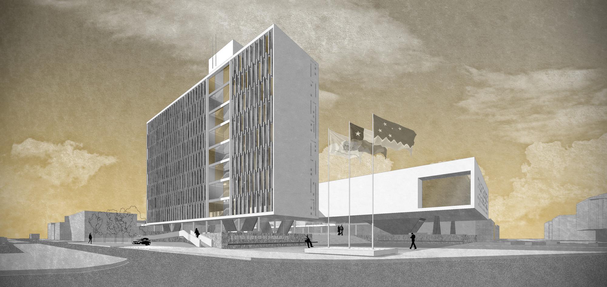 2º y 3º Lugar: Concurso para diseño del nuevo Edificio Consistorial de Punta Arenas, Courtesy of Equipo Segundo Lugar