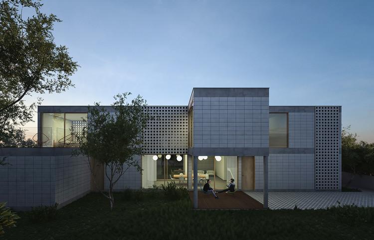 Paperhouses: Arquitetura de código aberto, Projeto de Tatiana Bilbao S.C.para Paperhouses, The Module House. Cortesia de Paperhouses