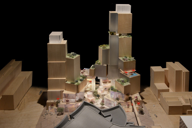 Frank Gehry to Submit Grand Avenue Vision to L.A. City Officials, First images released of Gehry's Grand Avenue scheme for Los Angeles.. Image