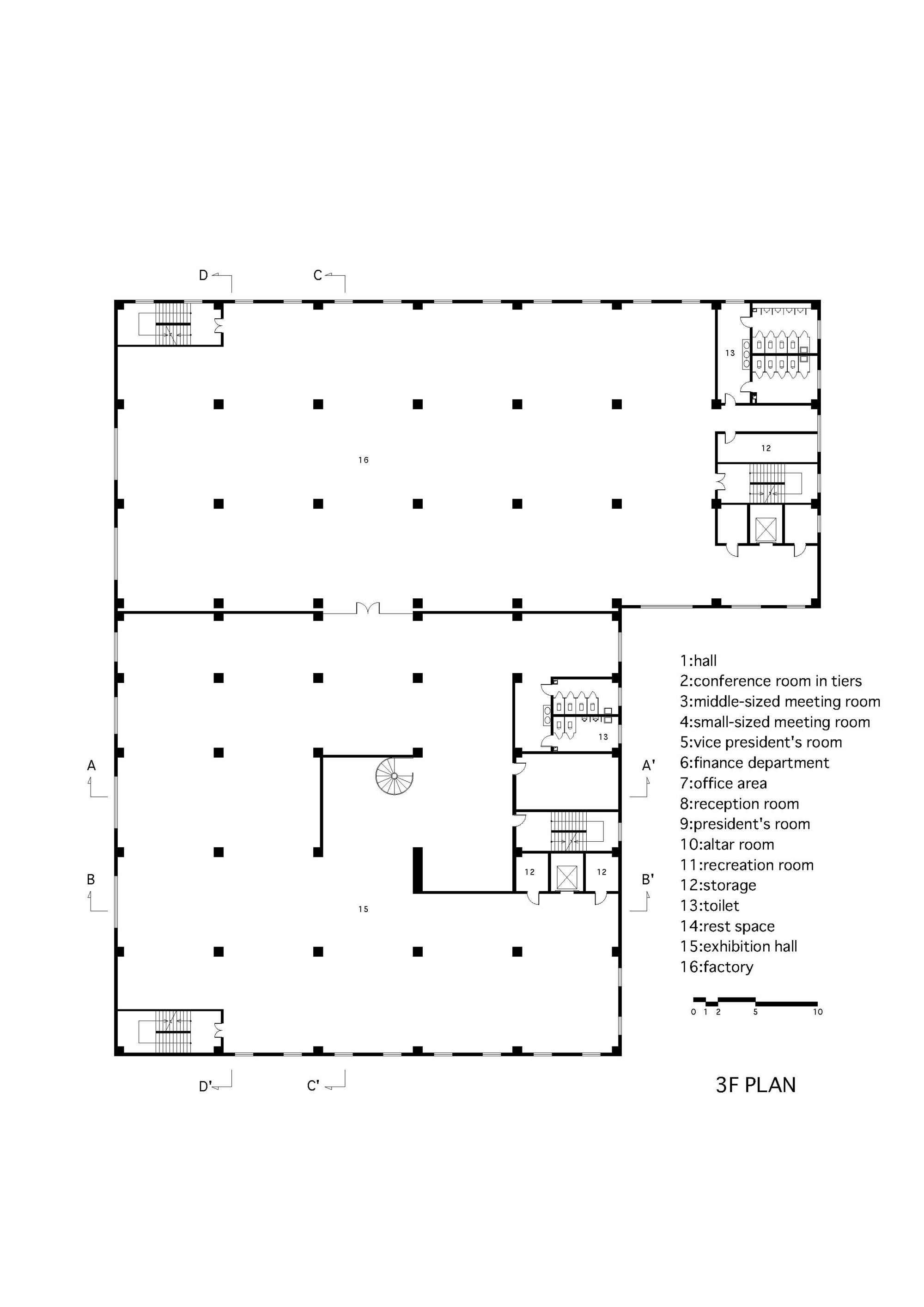 gallery of daxing factory conversion nie yong yoshimasa daxing factory conversion third floor plan