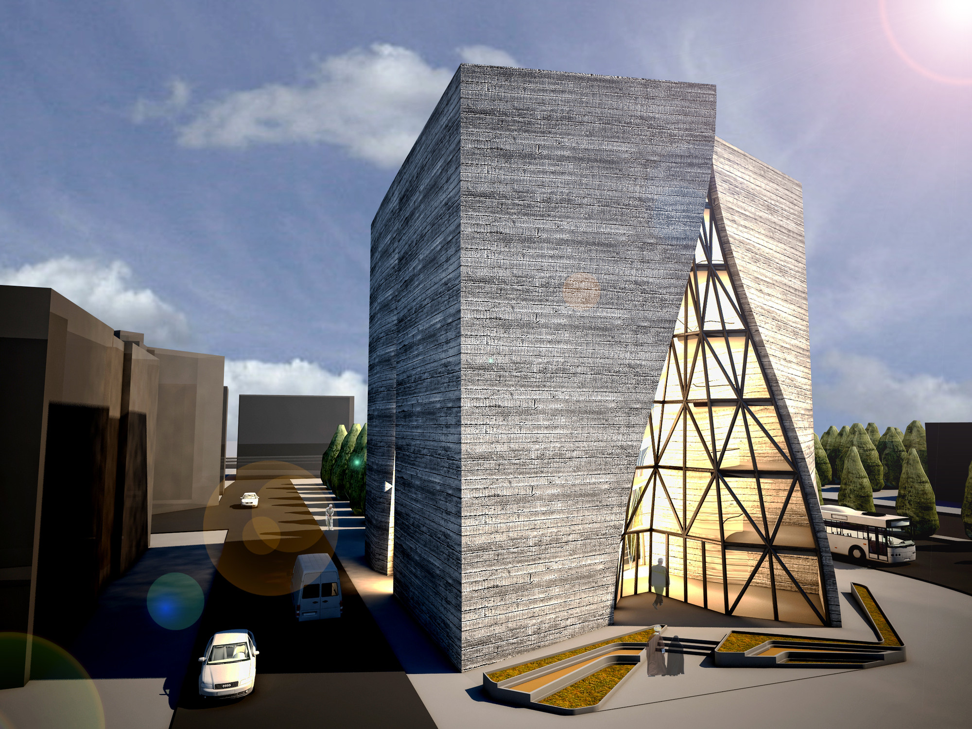 architecture building construction organization engineering studio central qom archdaily