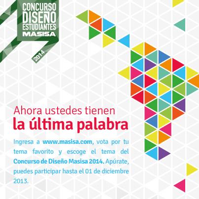 Elige el tema del Concurso de Diseño Masisa para Estudiantes