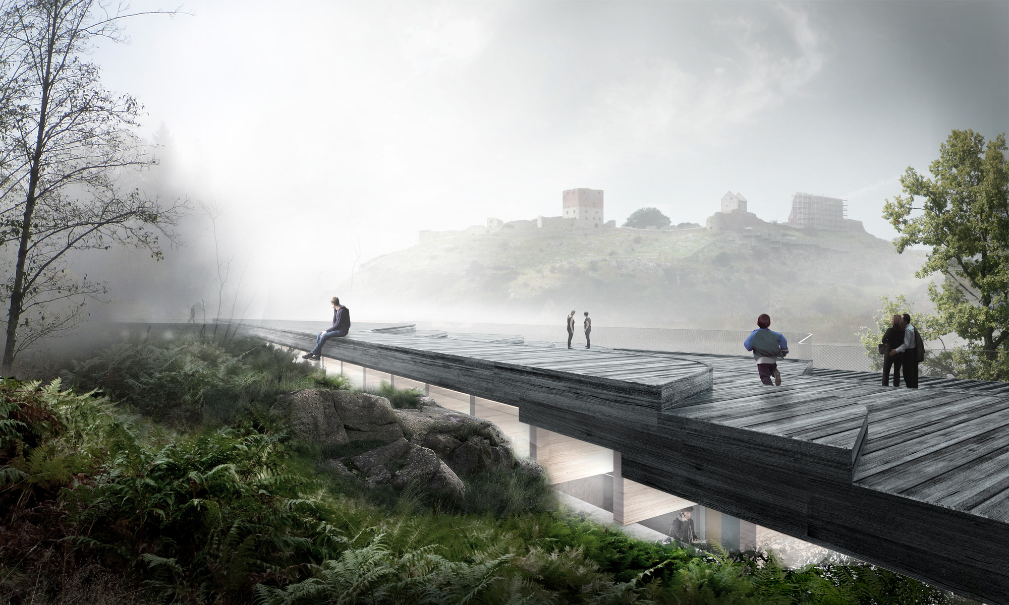 Arkitema Wins Competition for a Visitor Centre at Hammershus, Courtesy of Arkitema Architects