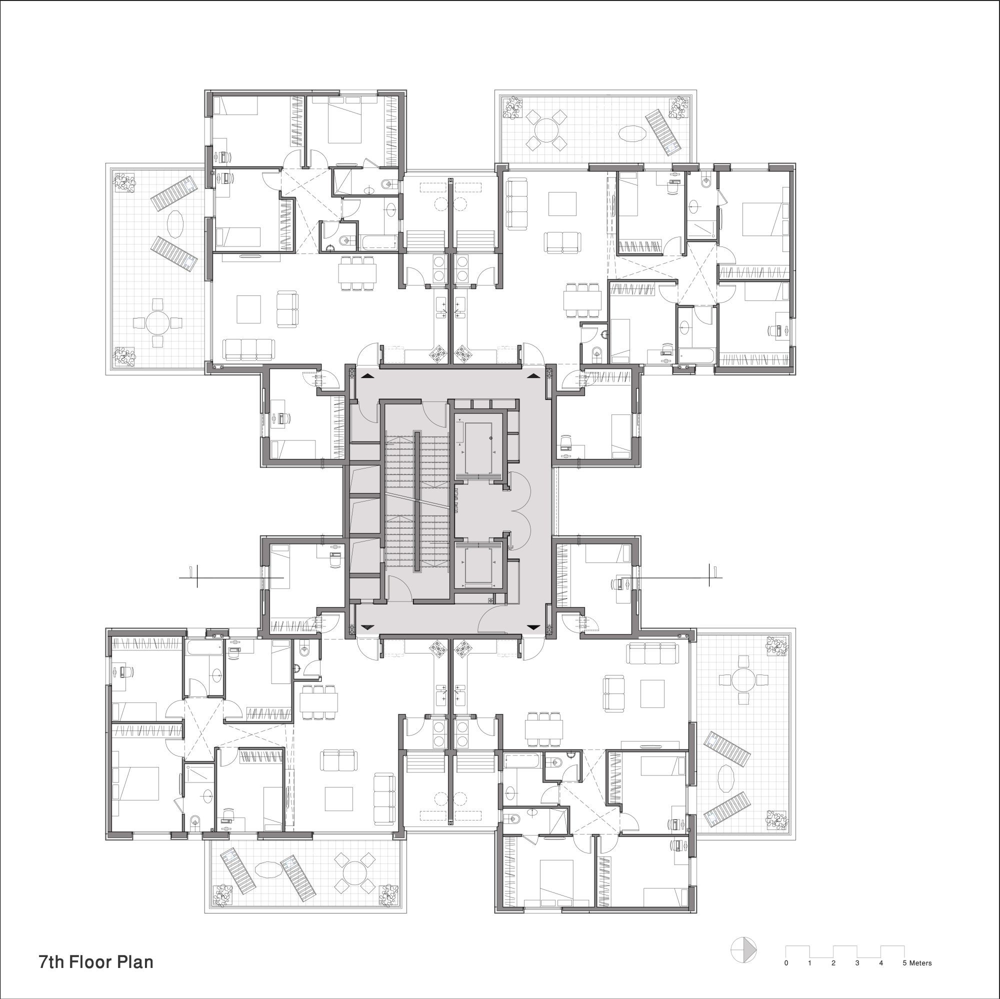 Z design building ami shinar amir mann archdaily for Large apartment floor plans