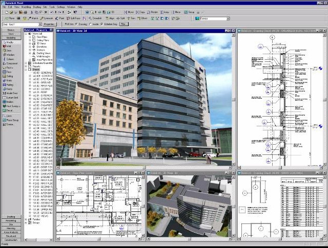 BIM: Collaboration Via the Cloud, Screenshot of a Revit Model. Via Flickr CC user. Used under <a href='https://creativecommons.org/licenses/by-sa/2.0/'>Creative Commons</a>