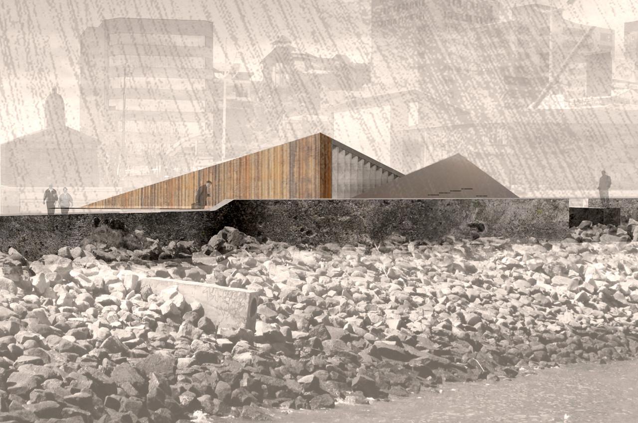 """1º y 2º Lugar Concurso Memorial """"Refugio de la Memoria"""" de las Provincias de Llanquihue, Chiloé y Palena, Courtesy of Primer Lugar"""