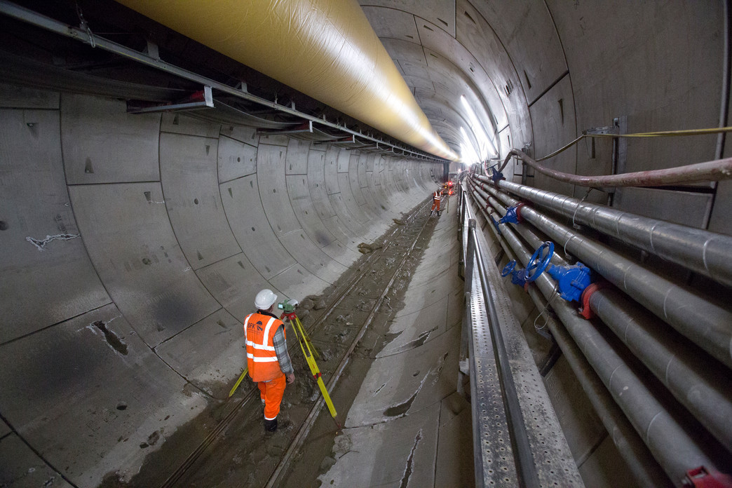 Tunnels Under London: the Largest Infrastructure Project in Europe, Crossrail western tunnels, December 2012. Image © Crossrail