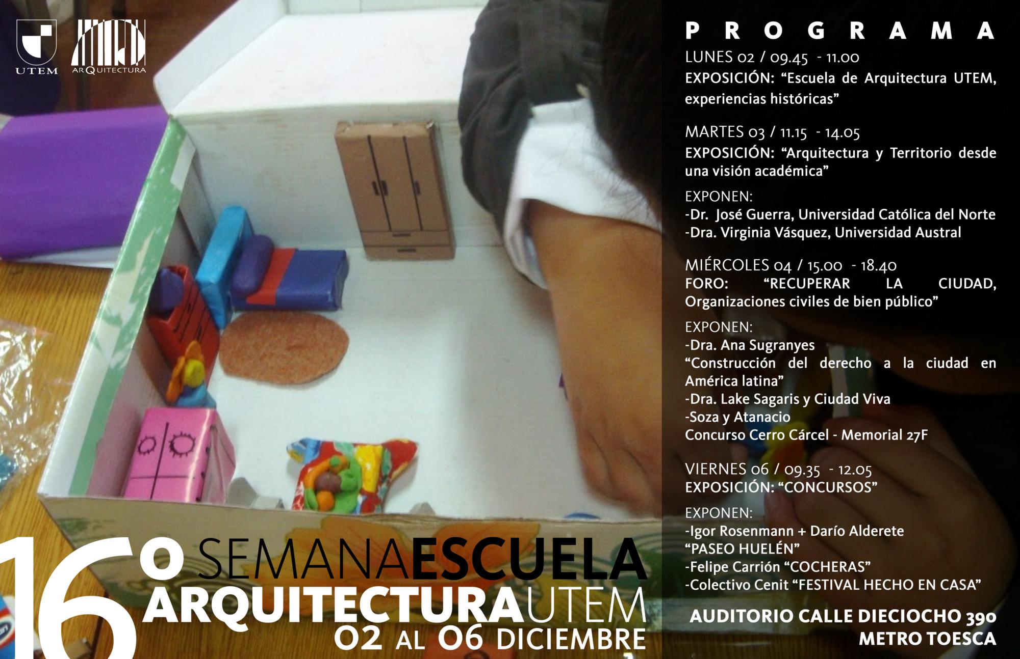 16° Semana de Escuela Arquitectura UTEM 2013, Courtesy of CEARQ UTEM