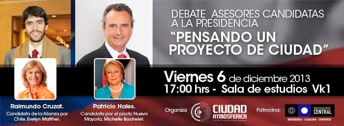 """Debate de propuestas urbanas de las candidatas presidenciales, """"Pensando un proyecto de ciudad"""", Courtesy of Colectivo Ciudad Atmosférica"""
