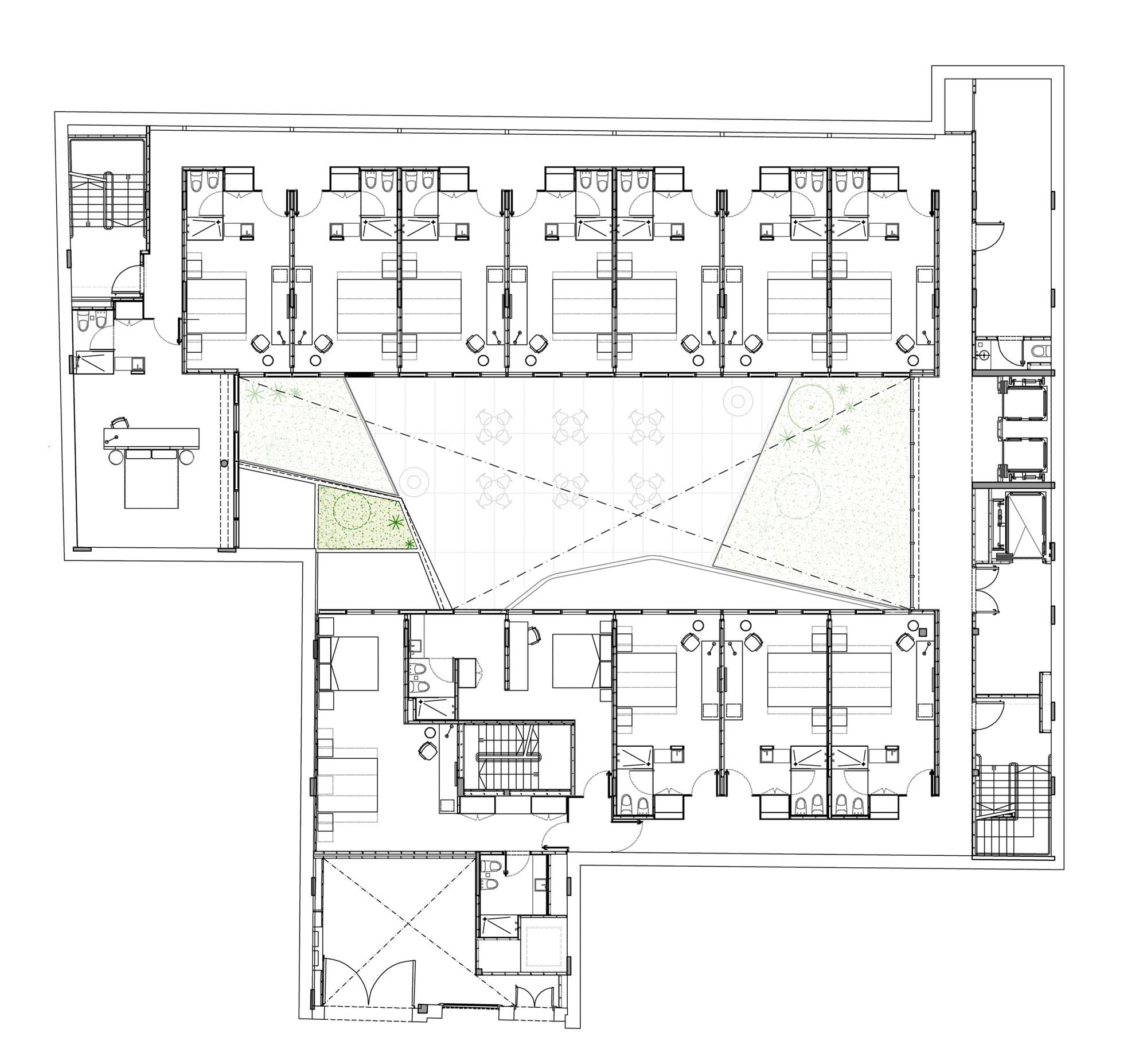 Galeria de hotel me san telmo estudio rietti smud 10 for Hoteles en planta