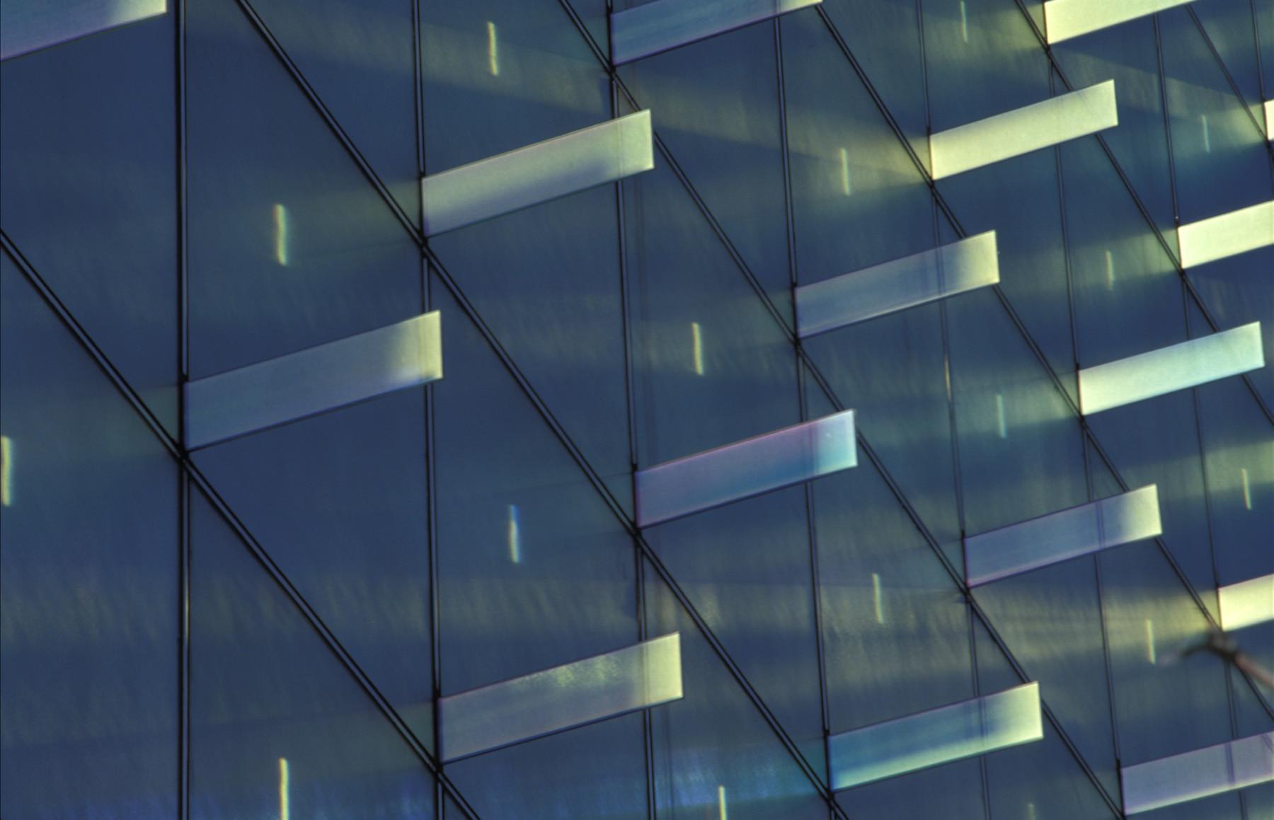 Blue Dichroic Glass Lighting