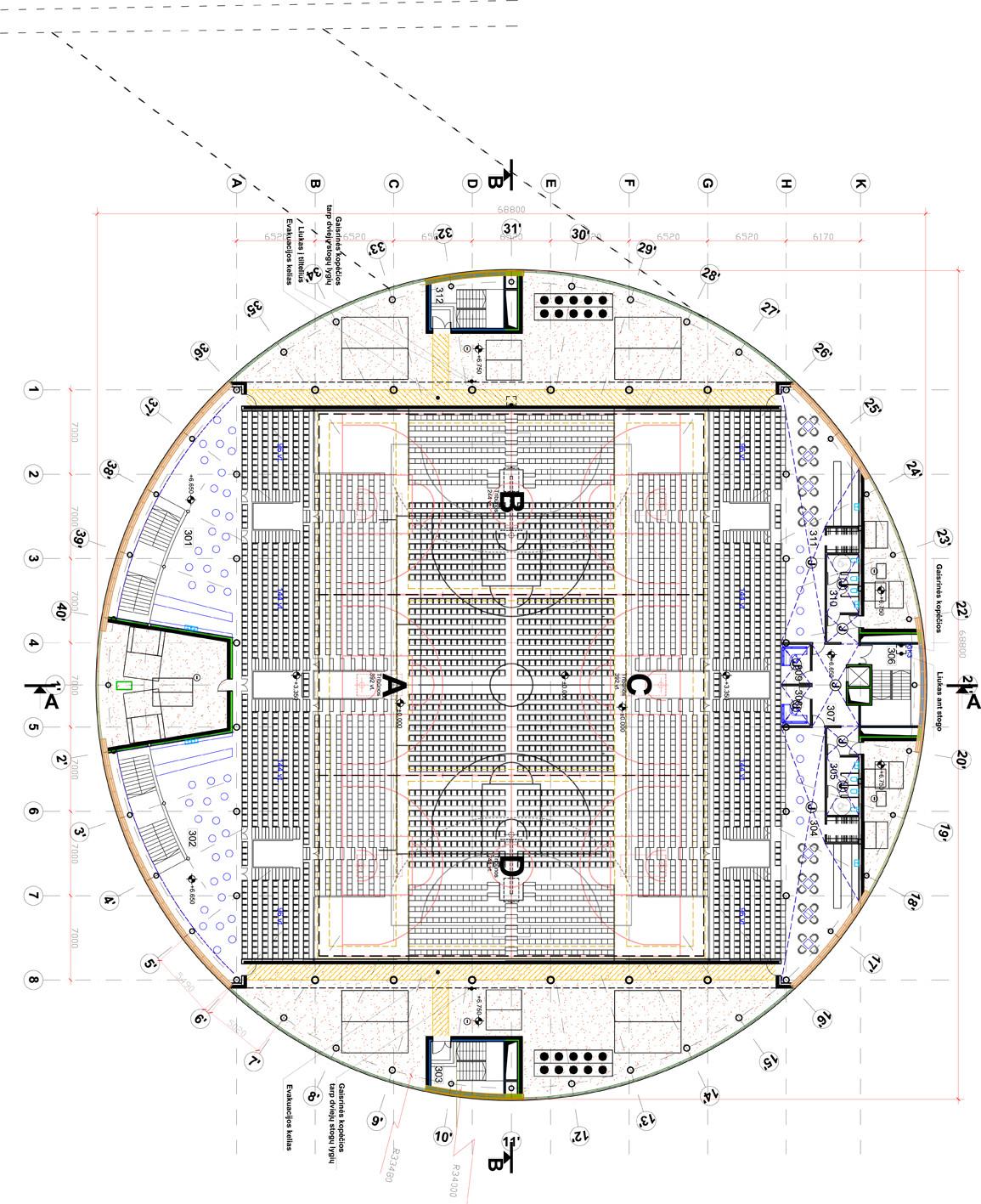 Drawing Floor Plan Gallery Of Kedainiai Arena 4plius Architects 19