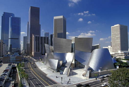 The Walt Disney Concert Hall, Los Angeles. Image © Gehry Partners, LLP