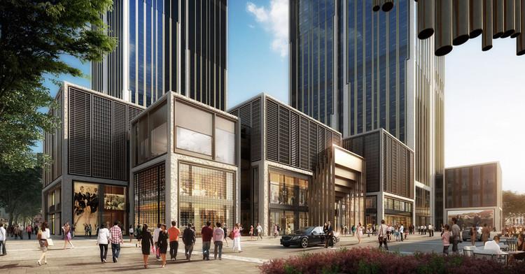 Foster e Heatherwick se juntam para projetar o Centro Financeiro de Xangai, © Foster + Partners