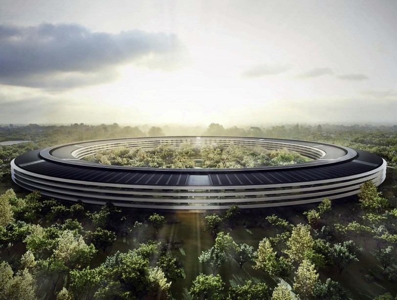 Which Architects Are Most Admired By Other Architects?, Foster + Partner's Apple Campus II. Image © City of Cupertino
