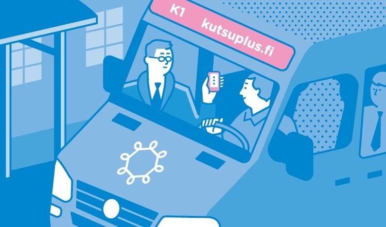 """Kutsuplus"": Um novo tipo de transporte público na Finlândia , Cortesia de  kutsuplus.fi"
