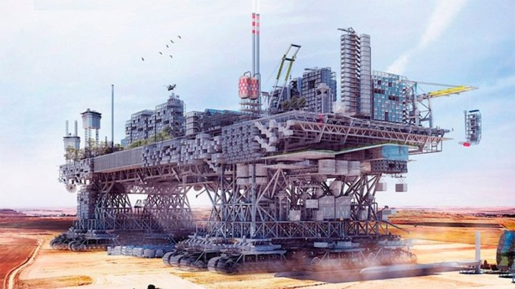 Cinco exemplos fantásticos de arquitetura especulativa, Very Large Structure, por Manuel Dominguez. Cortesia de Poliedro