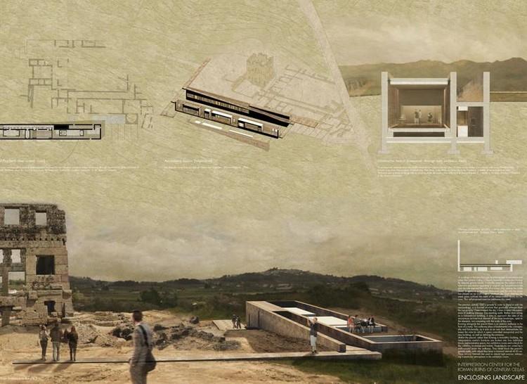 Vencedores da 3ª Edição dos Prêmios IS ARCH para estudantes, Enclosing Landscape. Cortesia de IS ARCH