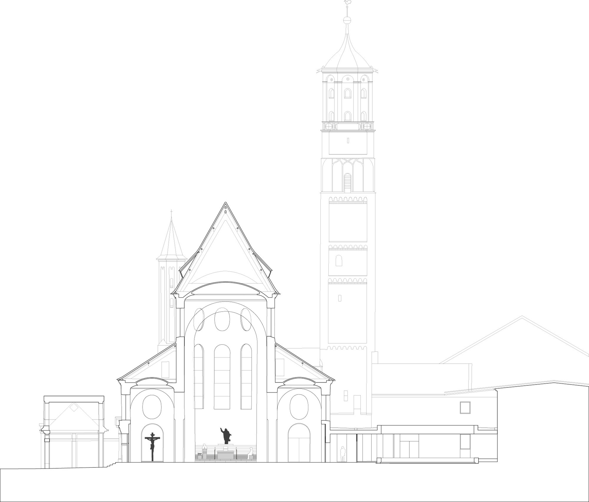 gallery of interior remodeling of st moritz church john pawson 25