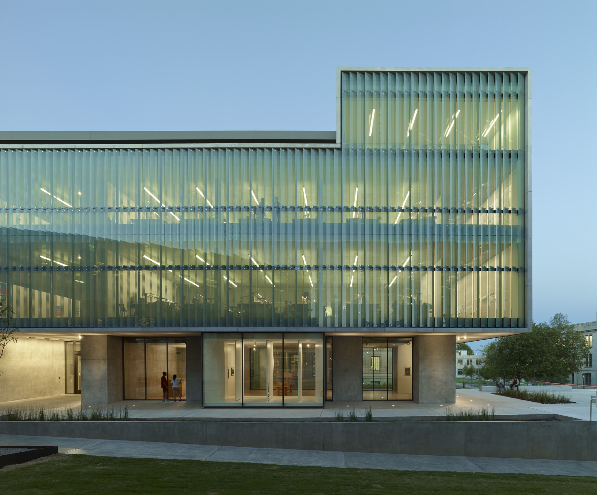 New Front Elevation Glass : Gallery of vol walker hall the steven l anderson design