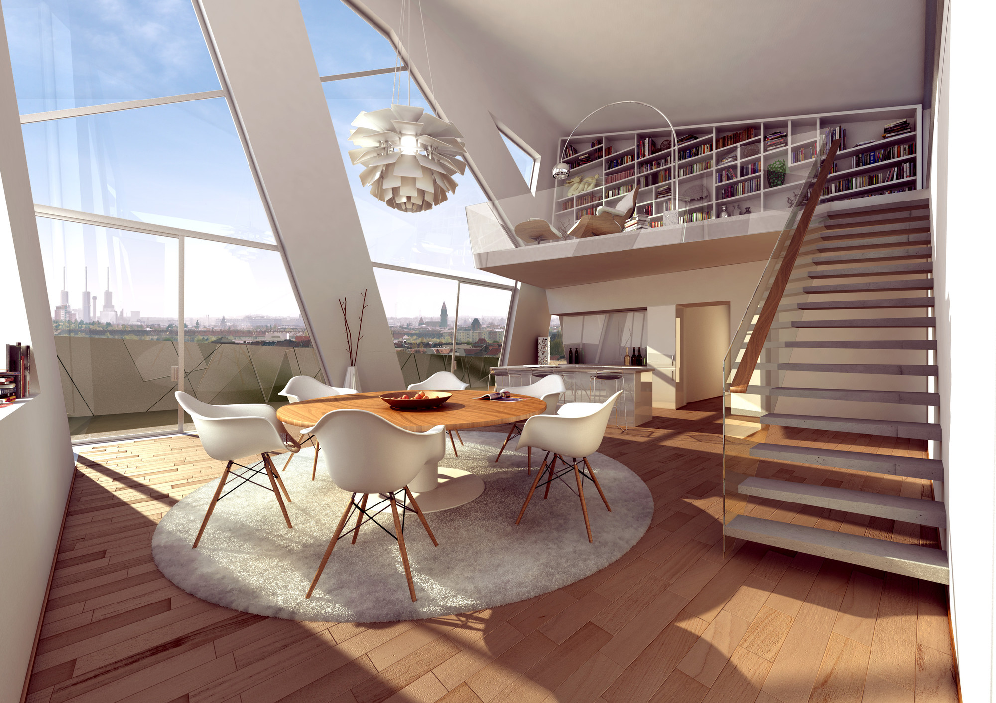 Marvelous Penthouse Interior. Image © PX2