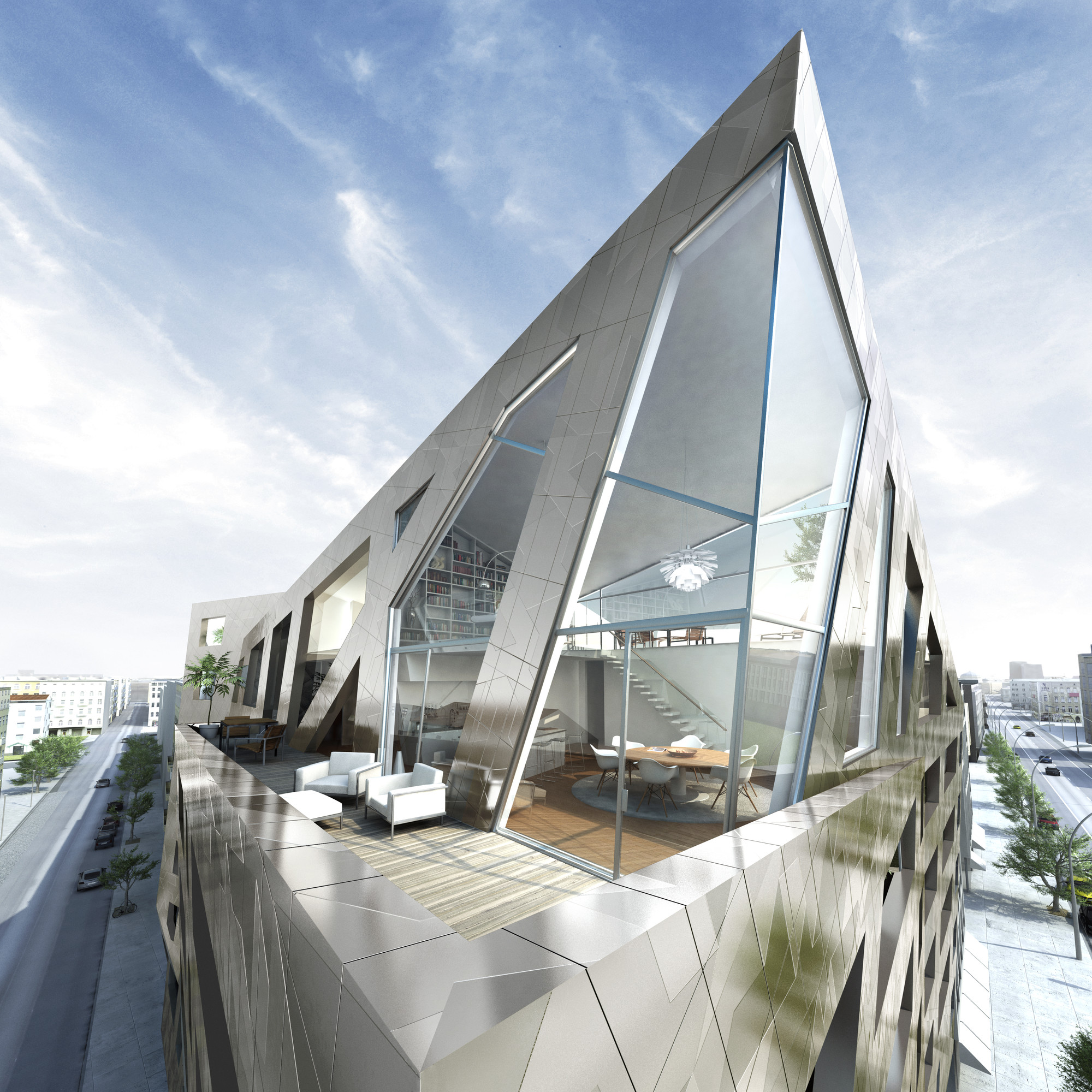Daniel libeskind designs apartment building for berlin for Daniel libeskind architectural style
