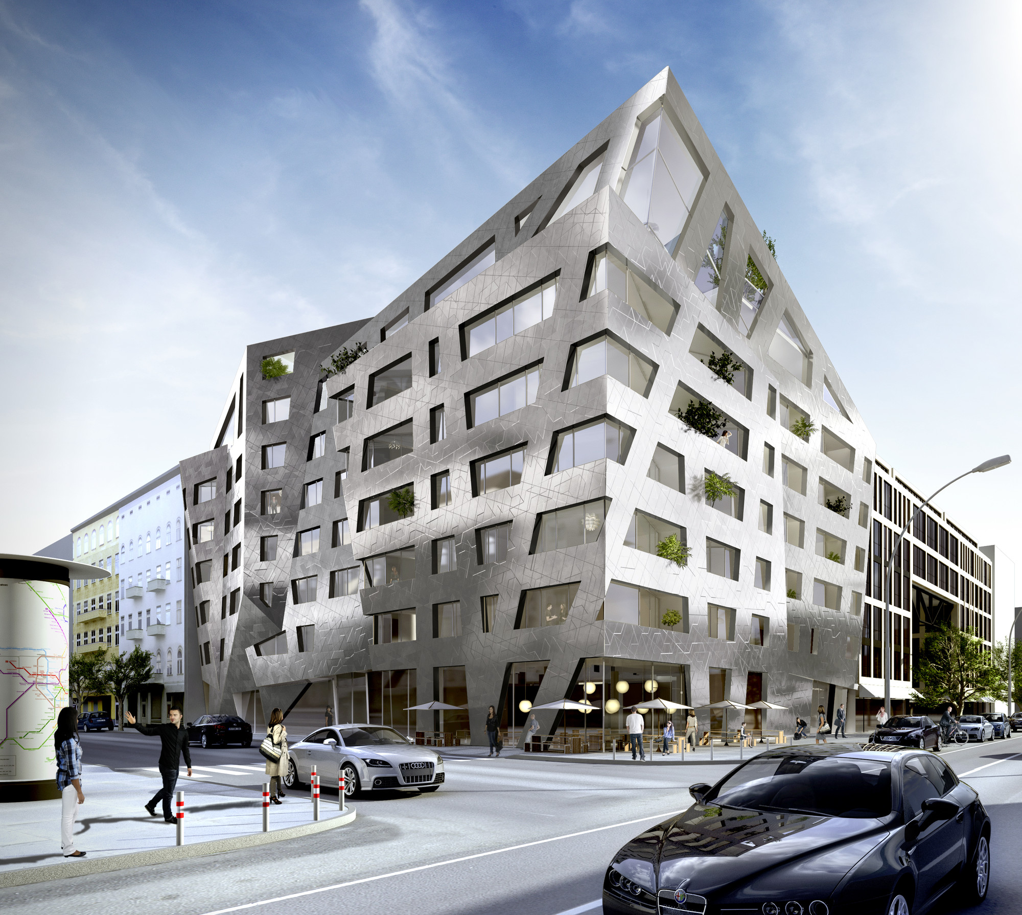 Daniel libeskind designs apartment building for berlin for Apartment building design ideas