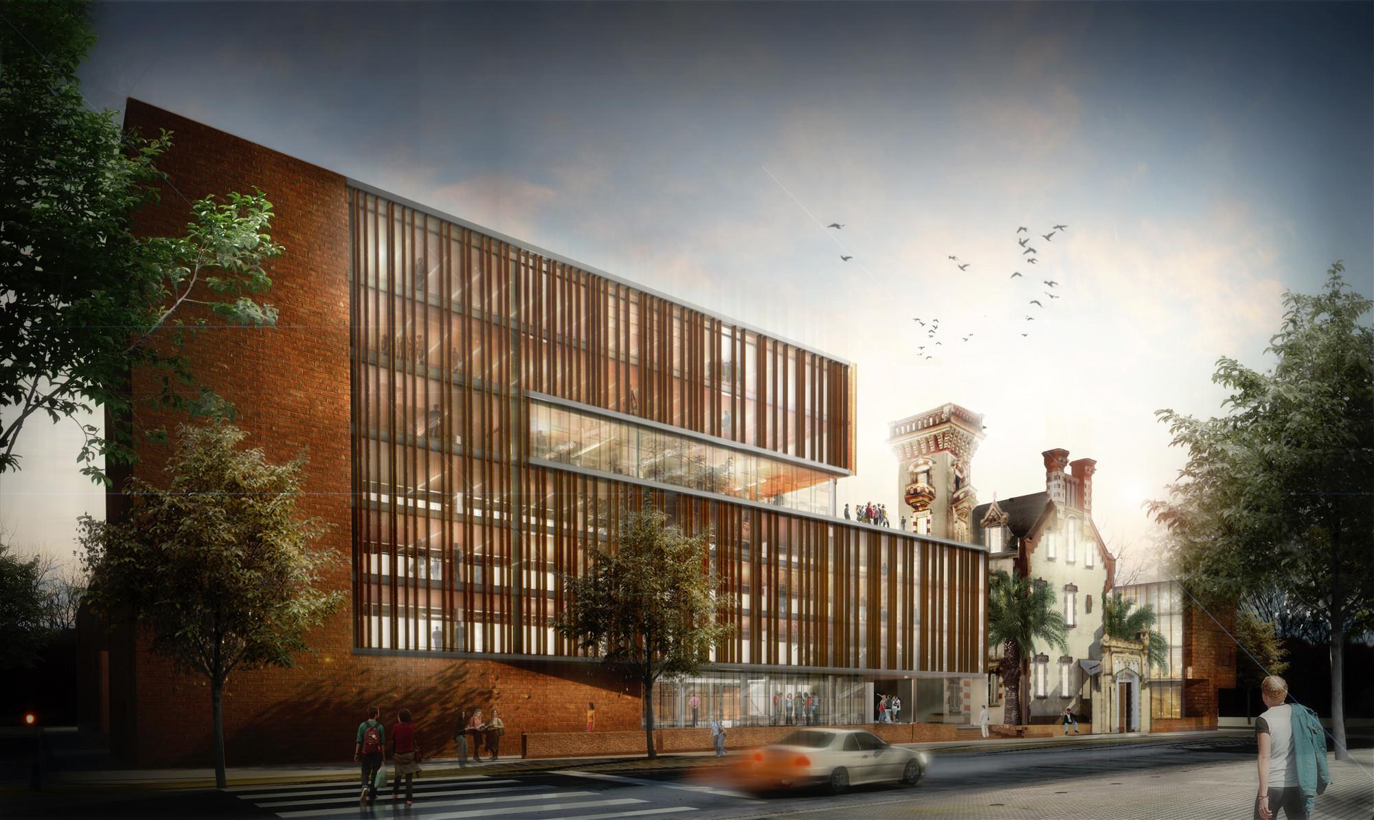 Galer a de resultados concurso arquifadu nueva escuela de - Escuela arquitectura valladolid ...