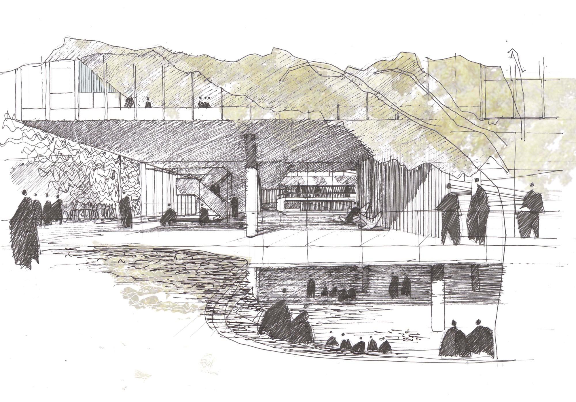 Galer a de resultados concurso arquifadu nueva escuela de for 5 tecnicas de la arquitectura