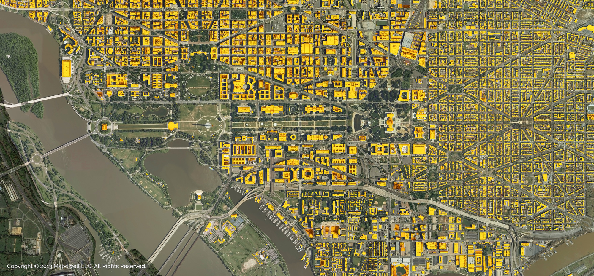 Mapdwell Expands to Washington D.C., National Mall. Image © Mapdwell