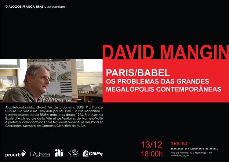 Palestra com David Mangin sobre os problemas das megalópoles, no IAB-RJ
