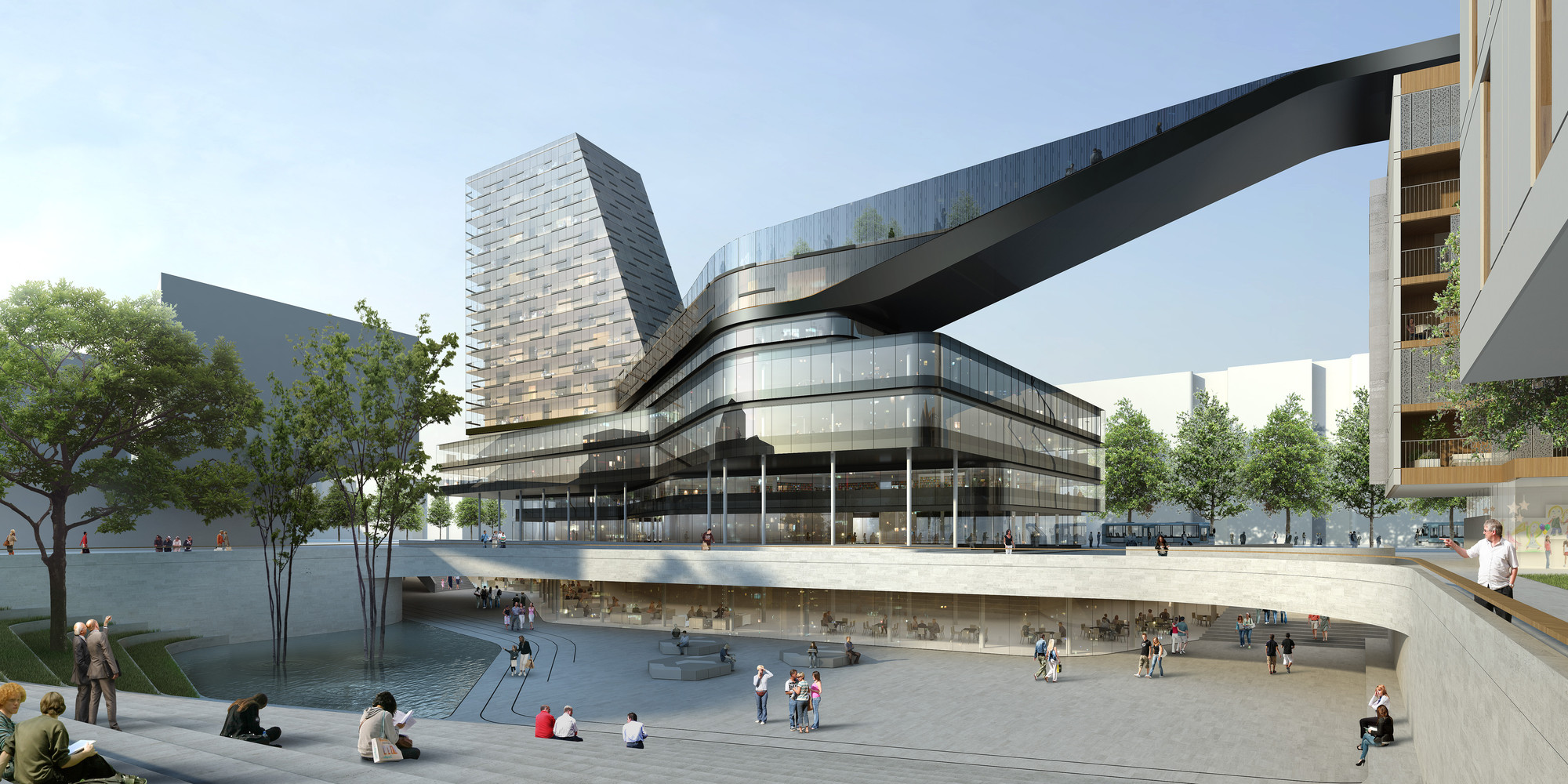DMAA Wins Competition for Mixed-Use, Cultural Complex in Munich, © DMAA