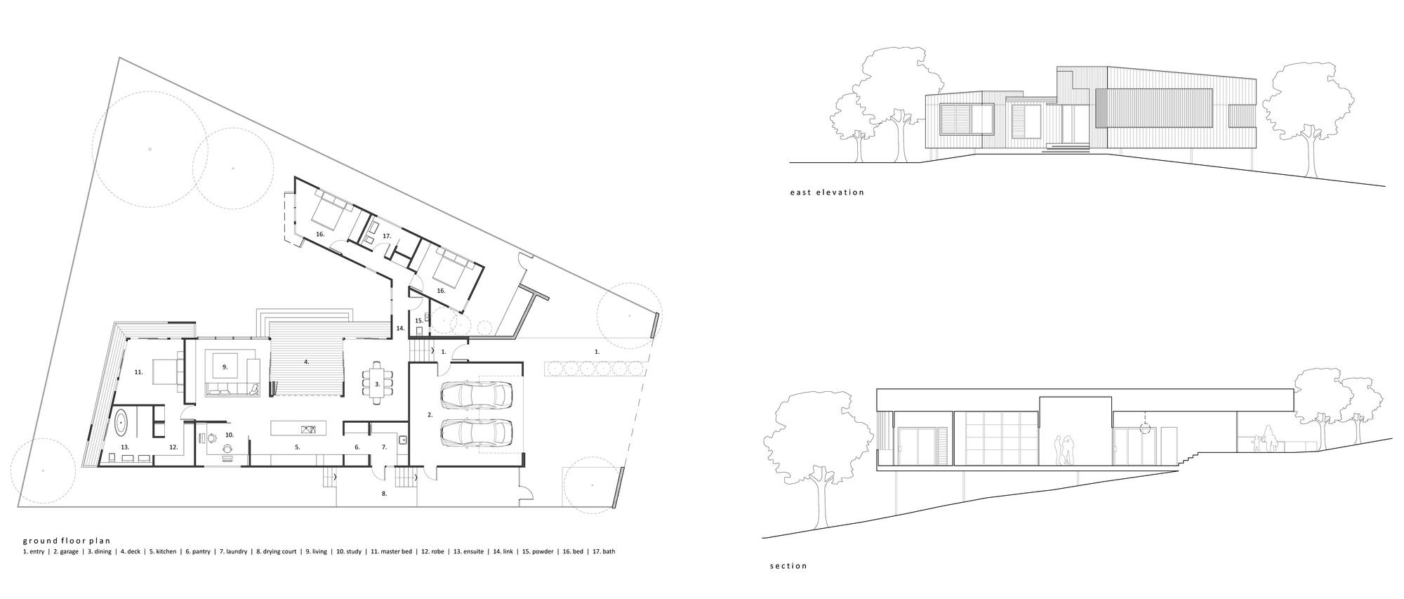 Best Floor Plan Section Elevation
