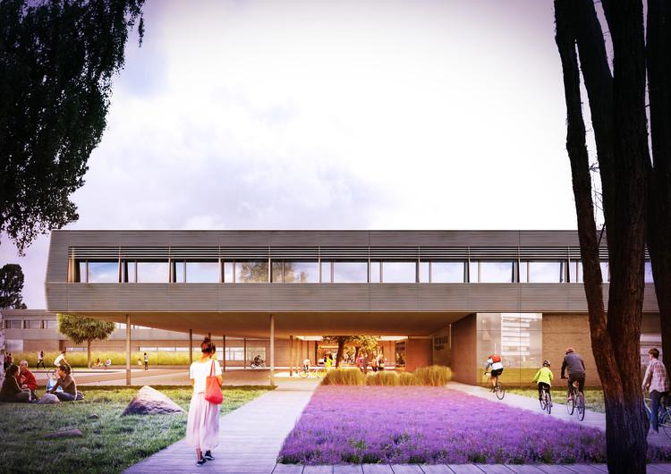 Bramberger vence competição para Campus de Alta Tecnologia na Áustria, Communications Promenade. Image © Bramberger Architects