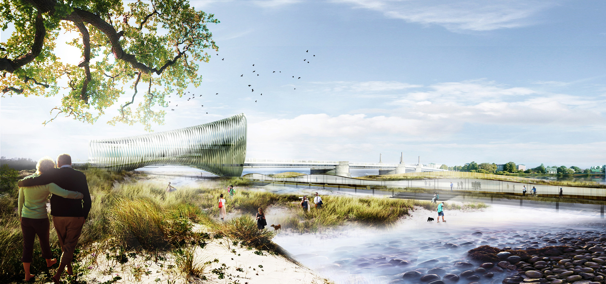 Tercer Lugar Baltic Sea Art Park / BAT + ACHA ZABALLA Arquitectos, Vista del parque . Image Courtesy of BAT + ACHA ZABALLA Arquitectos