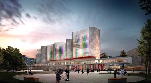 Nieto Sobejano Arquitectos' NCCA proposal. Image Courtesy of NCCA