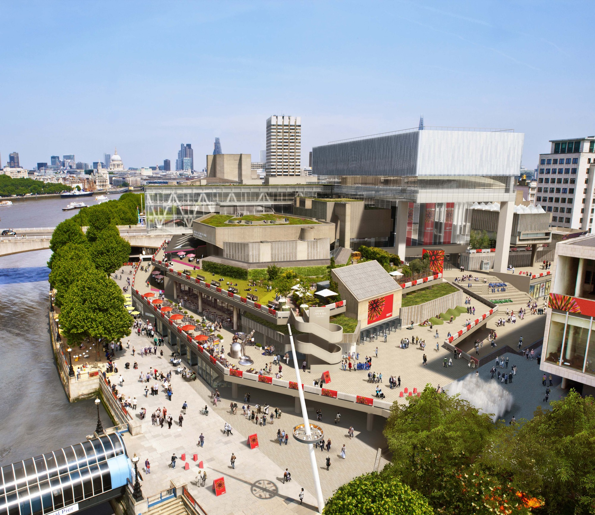 Detailed New Rendering of Southbank Released, © Miller Hare