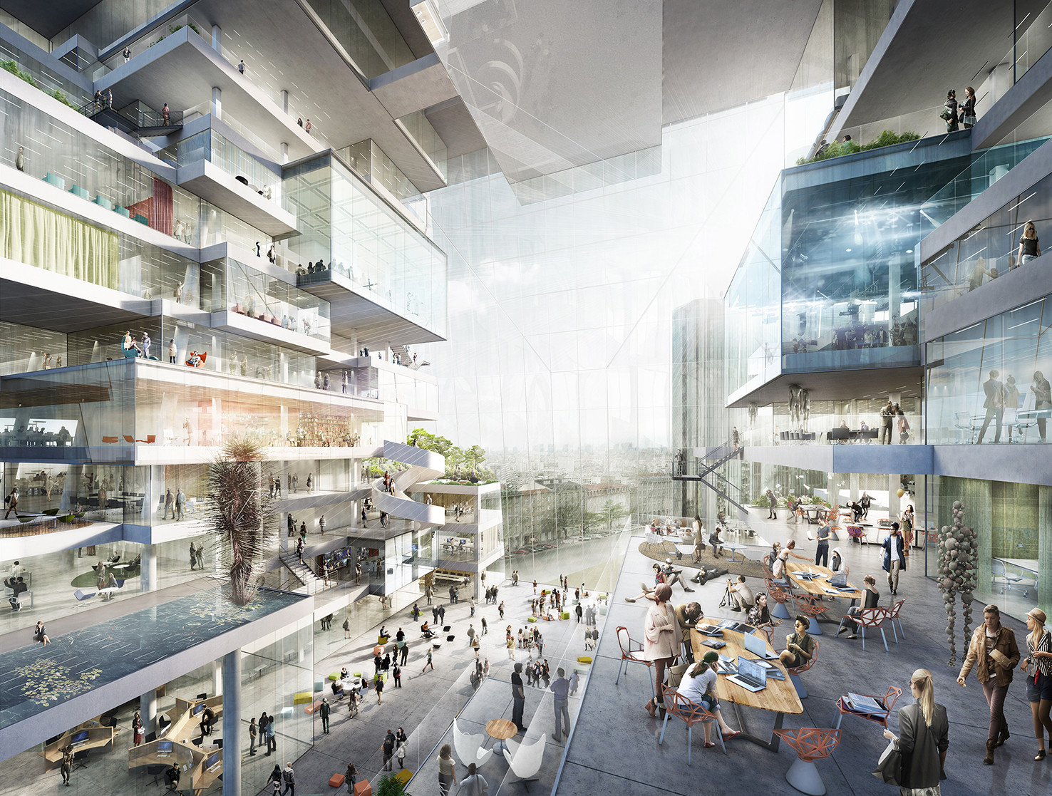 BIG, OMA, Büro-OS To Compete for New Media Campus in Berlin, Proposal from Büro-OS. Image Courtesy of Axel Springer SE
