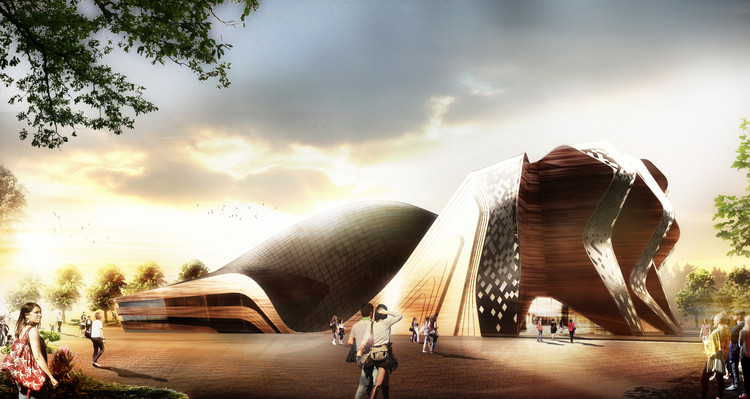 """GRAFT Wins """"Apassionata"""" with Iconic, Temporary Structure for Horse Shows, Courtesy of Graft Architects"""